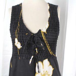 Vintage Dresses - Malihini Hawaii Designer's Collection Black Maxi